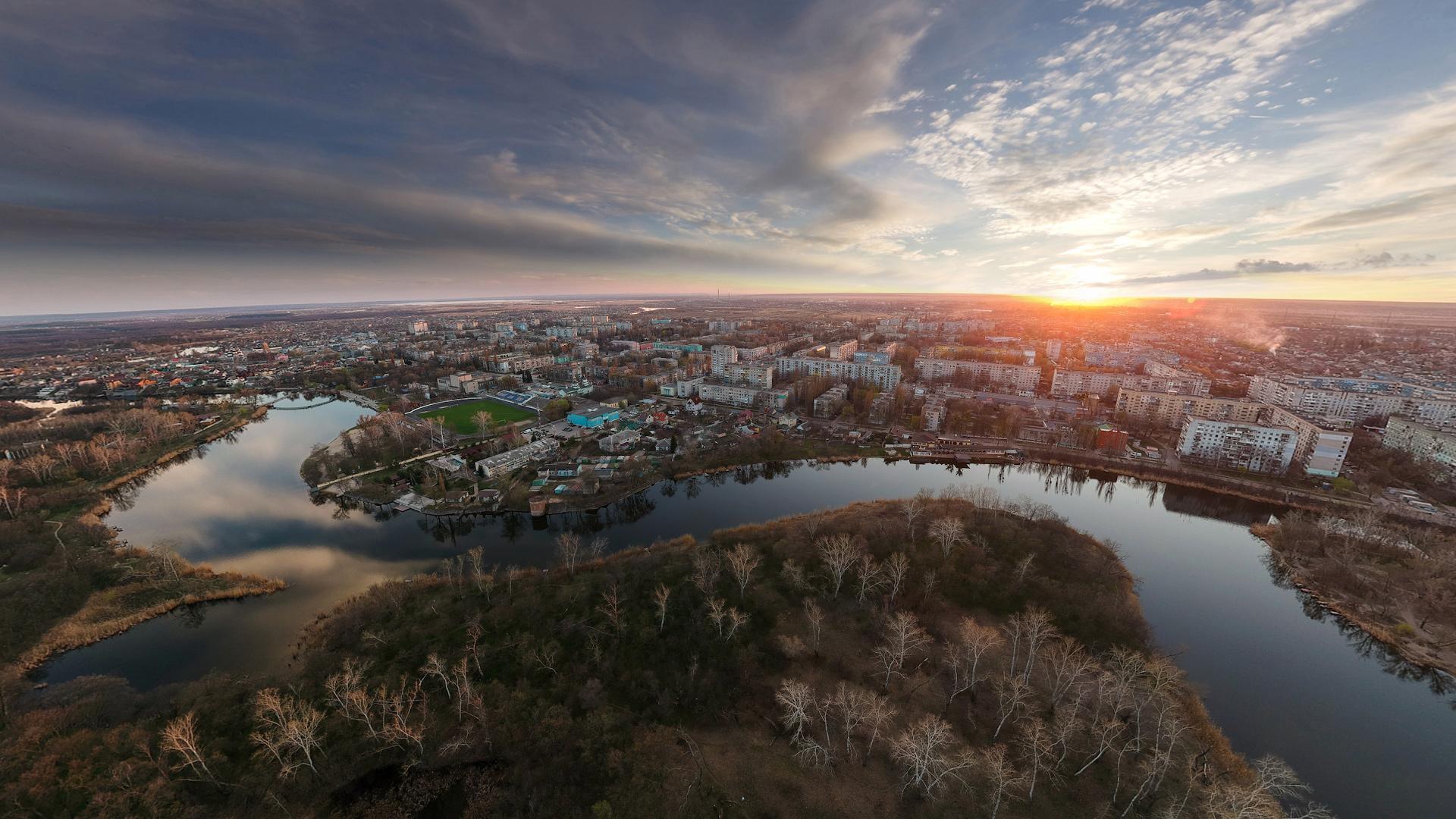 Закат над Новомосковском, Апрель 2019