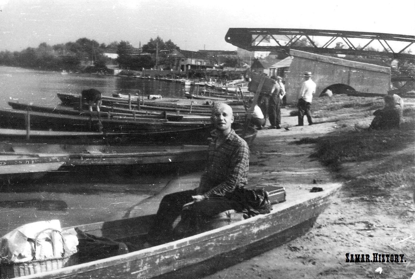 Початок зведення горбатого мосту у міському парку ім. Сучкова, 1964 рік