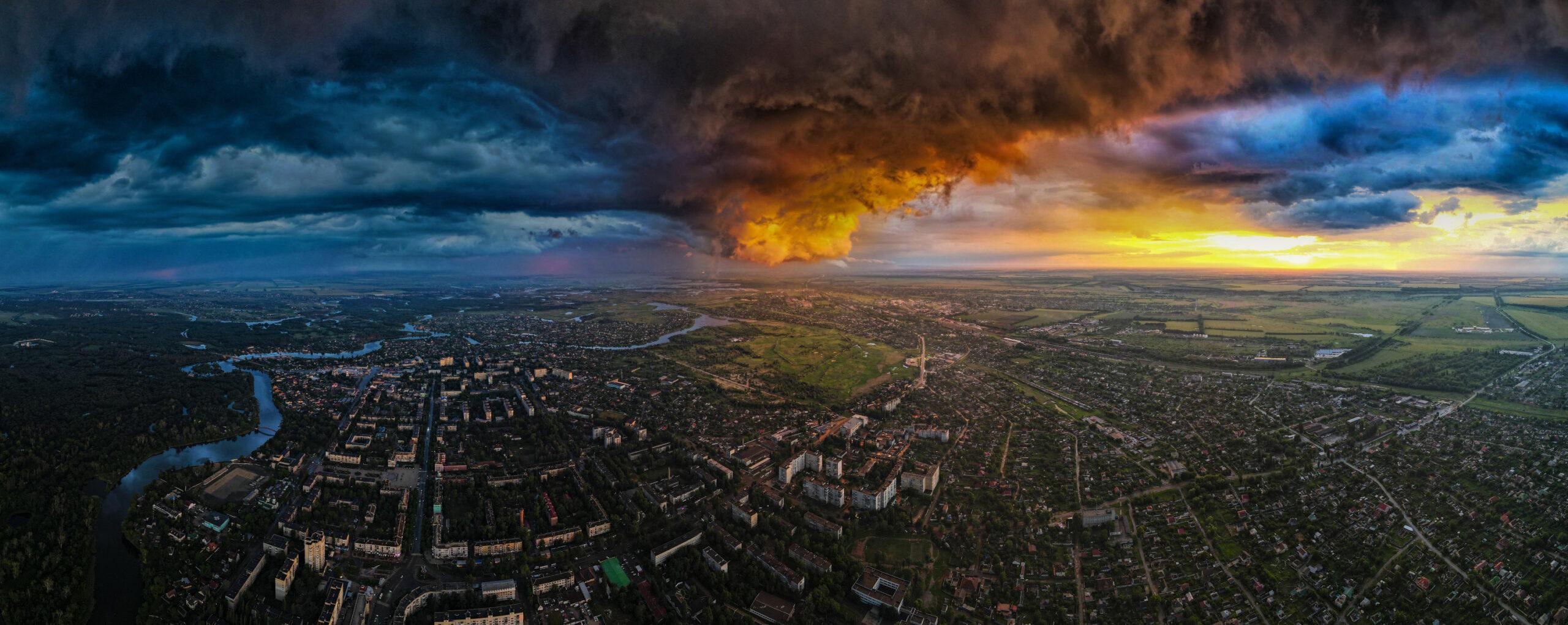 Гроза над городом, июнь 2021