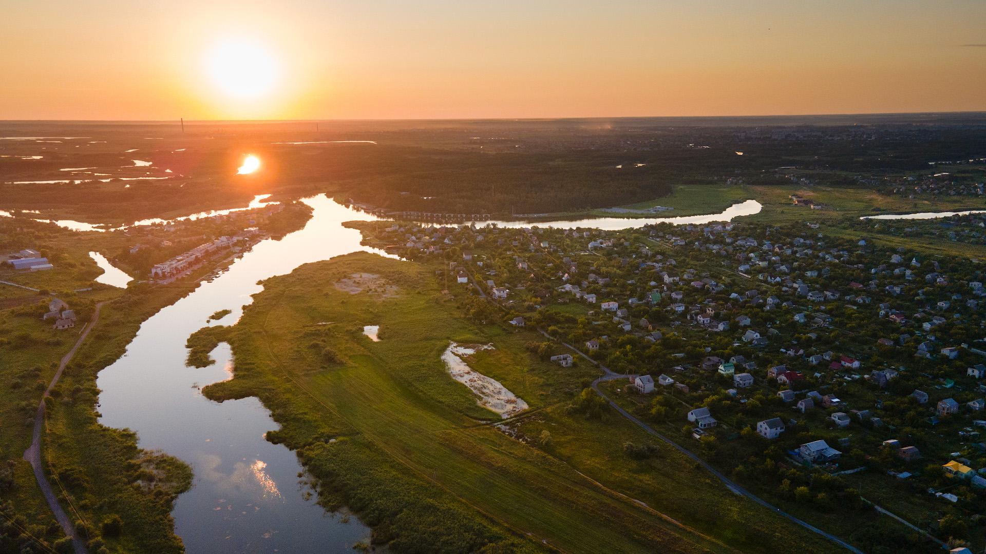Самарчук на закате в районе Песчанки, август 2021
